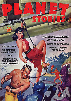 COMPLETE PLANET STORIES & PLANET COMICS On 3 DVDs