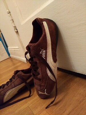 38837e6ea14a PUMA Speed Cat Womens Sz 7.5 Jarvis Brown Suede Leather Driving Sneakers  Shoes
