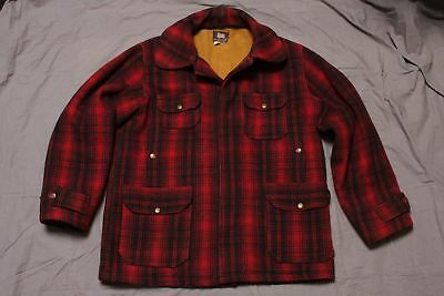 VTG Woolrich Woolen Mills Mackinaw Buffalo Plaid Hunting Jacket Suit Sz 44 50's