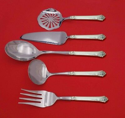 Damask Rose by Oneida Sterling Silver Thanksgiving Serving Set 5pc Custom Made