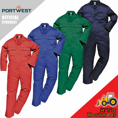 Portwest Mens Boiler Suit S999 Overalls Coverall Workwear Student Mechanics Work