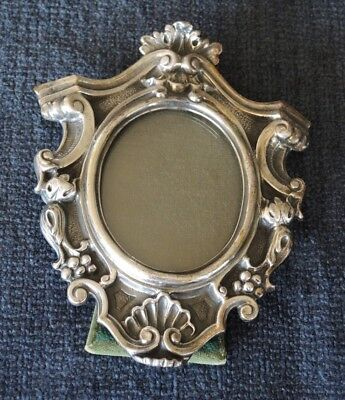 VINTAGE 800 SILVER GILDED ITALIAN STANDING / WALL PHOTO FRAME ROCOCO STYLE 217gm