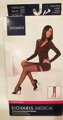 ba890f00f Sigvaris 782N EverSheer 20-30 Thigh-high Compression Stockings .SIZE  Sl