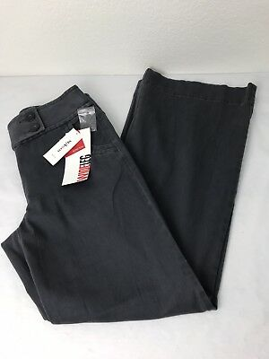 Womens Size 8 Style Co Stretch Wide Leg Grey Slacks Trousers Pants NWT $46 MSRP