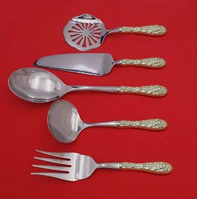 Rose by Stieff Sterling Silver Thanksgiving Serving Set 5-Piece Custom Made