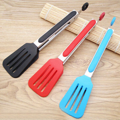 Silicone Cooking Kitchen Tongs Food BBQ Salad Bacon Steak Bread Clip Clamp Tools