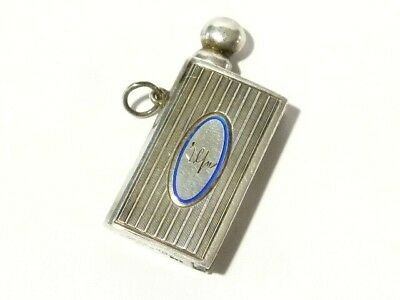 Art Deco Sarastro 900 Silver German Strike a Light Cigar Lighter Fob, Enamelled