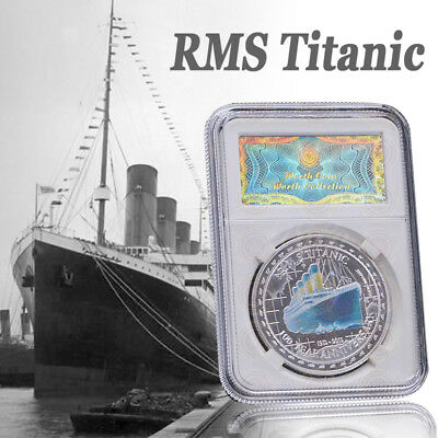 WR Titanic's 100th Anniversary Silver Coin UK Queen Elizabeth Collection