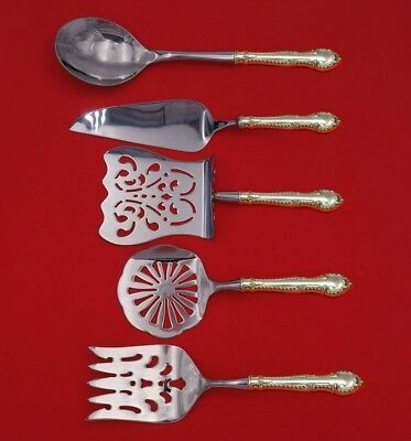English Gadroon by Gorham Sterling Silver Brunch Serving Set 5-Piece Custom Made
