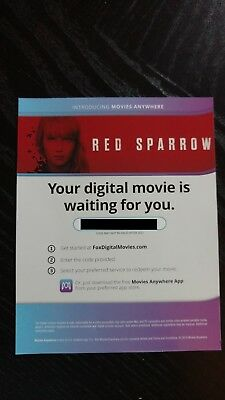 Red Sparrow HD Digital - Code Only, No Discs