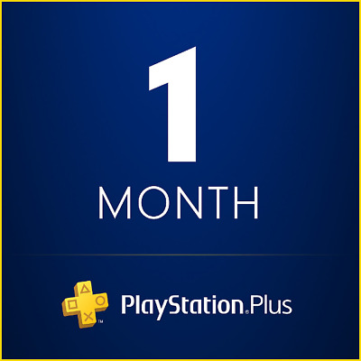 1 Month PS Plus PlayStation - PS4 - PS3 - Vita No Code