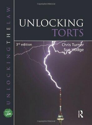 Unlocking Torts (UNTL) by Chris Turner Paperback Book The Cheap Fast Free Post