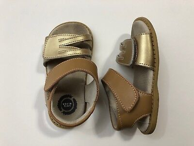 NIB LIVIE /& LUCA Sandals Athena Brass Metallic Glazed Leather 8 9 10 11 12 13