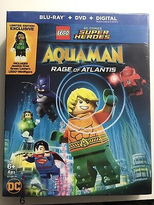 LEGO DC Super Heroes: Aquaman - Rage of Atlantis Bluray, DVD + Digital (2018)