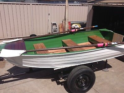 Tinnie aluminium boat 12ft, Mercury 9.8hp motor
