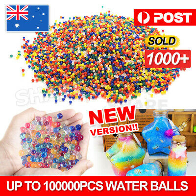 50000pcs Crystal Water Balls Jelly Gel Beads for Vases Orbeez MultiColor AU