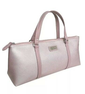 Sachi Insulated Wine / Lunch tote, Handbag Purse In Blush Pink