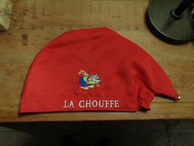 Bonnet rouge pub bière La Chouffe Nain red beer Hat with bell new