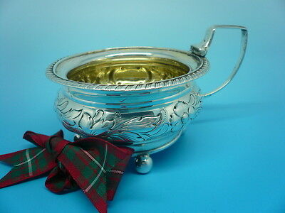 Silver Mustard Pot, Sterling, Antique, English, Condiment, Hallmarked 1814