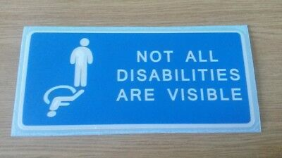 Not All Disabilities Are Visible Vinyl Decal/Sticker
