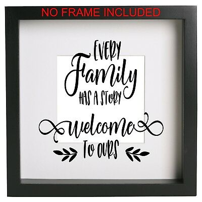 Some call it choas we call it family box frame decal Vinyl sticker Quote Ribba