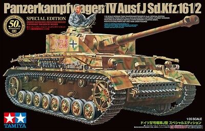 Tamiya 1/35 German Pz.Kpfw.IV Ausf.J Special Edition Model Tank Kit #25183