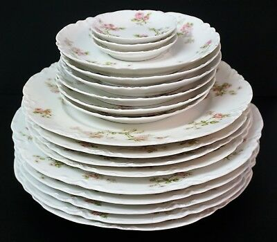 Haviland Limoges Frontenac Dinner Luncheon Plates Saucers Butter Pats - 18 PCS