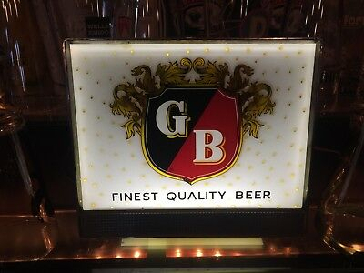 SCARCE VINTAGE BREWERIANA STAG 1960s Vintage Griesedieck Brothers Lighted Sign