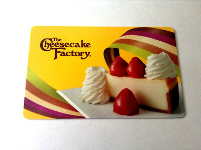 The Cheesecake Factory GIFT CARD NO VALUE ------0---balance rechargeable