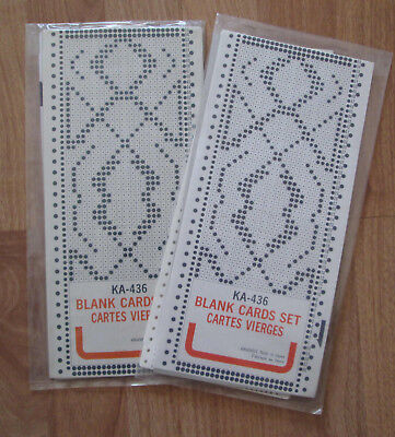 BROTHER KNITKING ORIGINAL KA-436 BLANK PUNCHCARDS *NEW* 10 Cards, f/ all 24 st