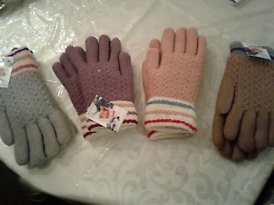 new ladies soft thick  warm magic gloves...lot of 2 pairs