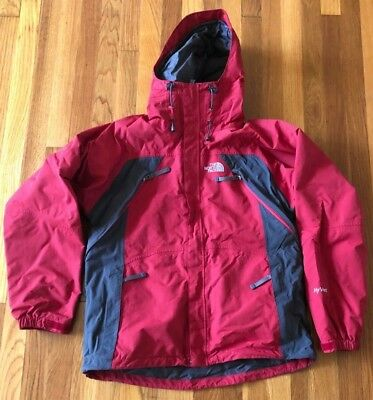 846067eb0 THE NORTH FACE Hyvent Mens Sz M Red Hooded Full Zip Shell Ski Snowboard  Jacket