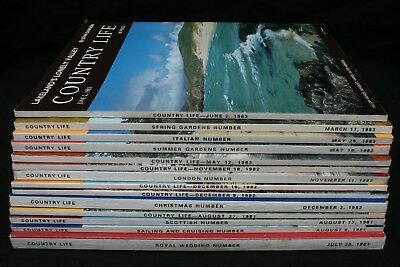 Country Life Magazine x 14 Issues from  1981 1982 and 1983