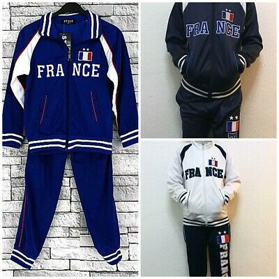 Football France Tracksuits for Boys Girls and Kids 4 Years to 14 Years Jog Suit