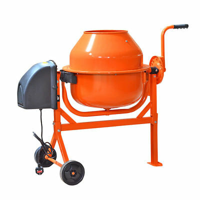 63 LITRE PRO 220W Drum Portable Electric Concrete Cement Mixer Mortar Plaster