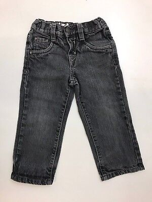 J1261 Adams A&D  Boys Charcoal Slim Fit Denim Jeans Age 3 Years
