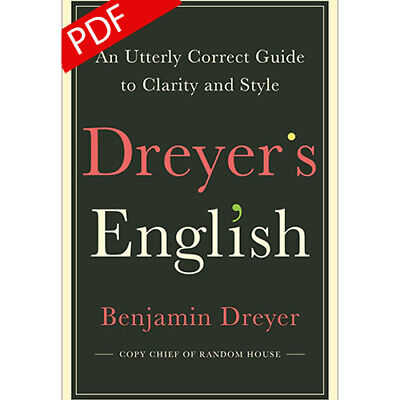 Dreyer's English: An Utterly Correct Guide to Clarity&Style2019 *EB00K BY EMAIL*