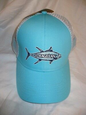 Magellan Outdoors Men s Hat Cap Sketched Tuna Pool White Color Snap Back NEW 99c9a2339a2b