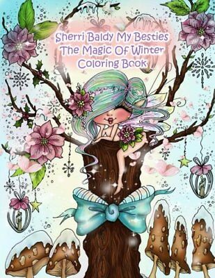 New Sherri Baldy My Besties Christmas Cottage Coloring Book By