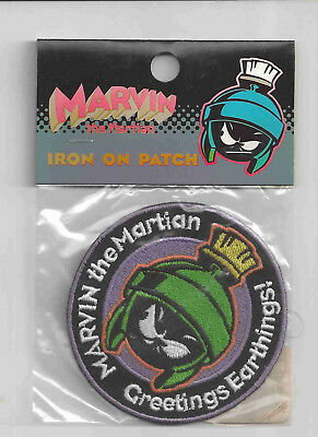 "Marvin The Martian Patch Sew Iron On Embroiderd Applique 2.56/"" X 3.78/"""