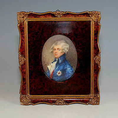 Miniature Portrait of a German Noble in Beautiful frame 19th Century