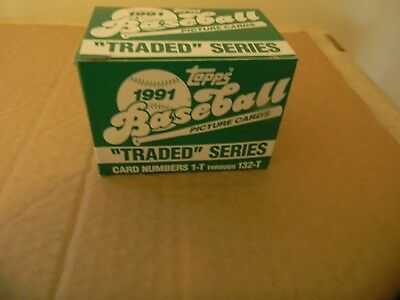 "1991 Topps ""Traded"" Baseball Box 132 Card Complete Set Mint To Gem From Case $$"