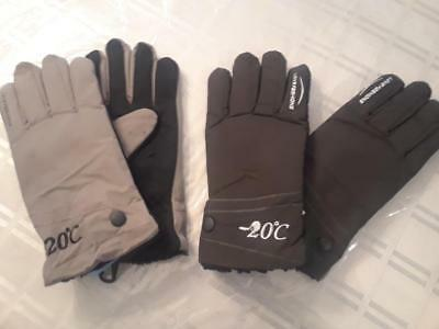 New mens warm winter gloves...lot of 2 pairs