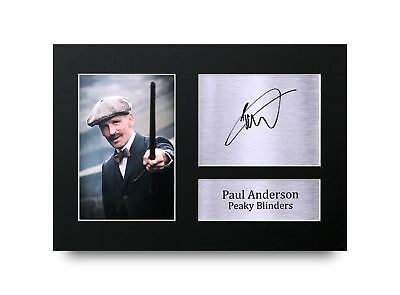 HWC Trading Paul Anderson Gift A4 Printed Autograph Peaky Blinders Gifts Prin...