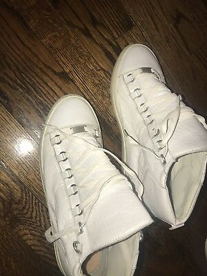 1fccf1904402 BALENCIAGA MENS ARENA Leather high top sneakers Size 42 White ...