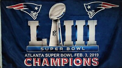 New England Patriots Super Bowl Liii Champions Flag 3'x5': Fast Free Shipping