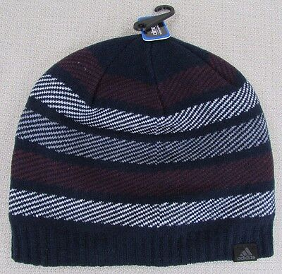 ADIDAS Men s Climawarm Cascades Beanie Hat Collegiate Navy One Size Fits All  NEW 09482dc85369