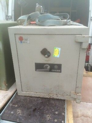 big chubb safe with key very heavy vintage others available
