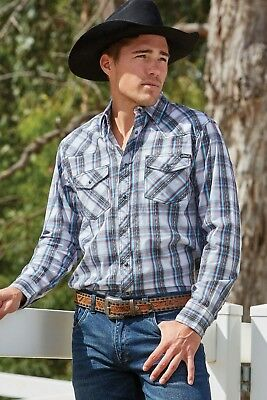 New Mens PURE  Western Levi Competition Campdrafting Performance Shirt   M / 2XL
