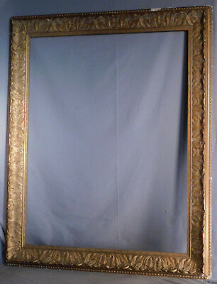 BIG Arts Crafts Victorian Aesthetic FOLIATE Gilt Gesso Picture Frame 35x27 KIT